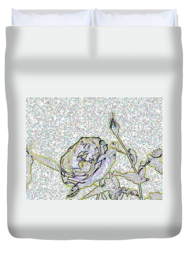 Rose Duvet Cover featuring the photograph Rose For U by Tim Allen