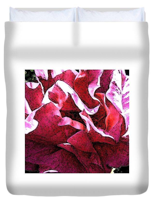 Rose Duvet Cover featuring the photograph Rose Fresco by Elizabeth Tillar