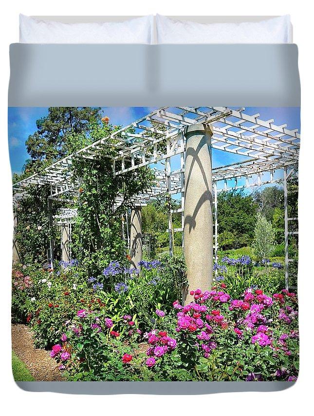 Rose Garden Trellis Duvet Cover For Sale By Lynn Bauer