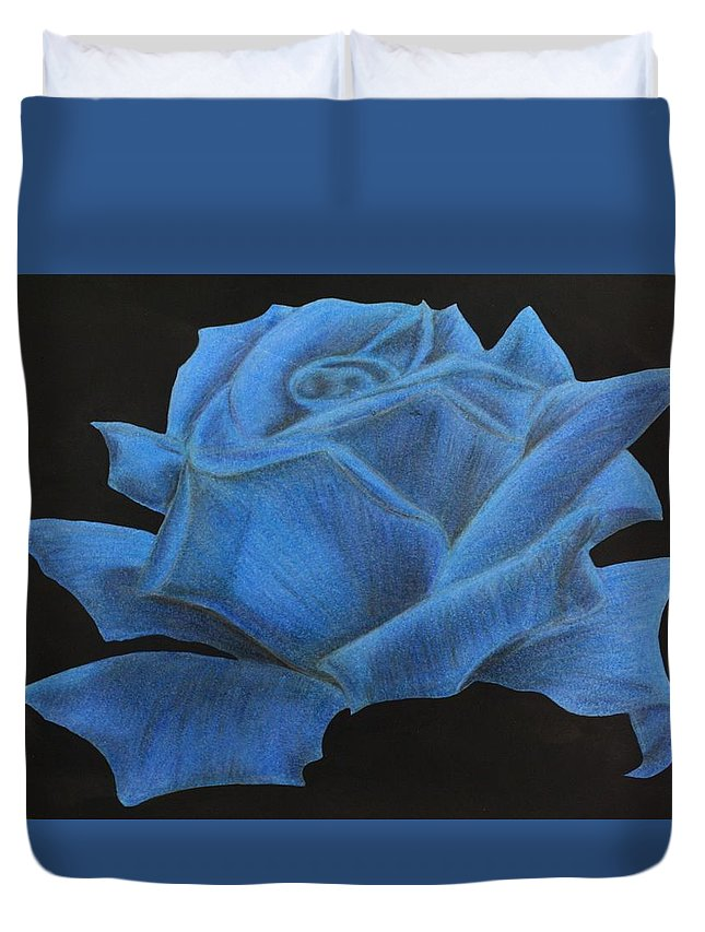 Rose Duvet Cover featuring the mixed media Rose by Graciela Acosta