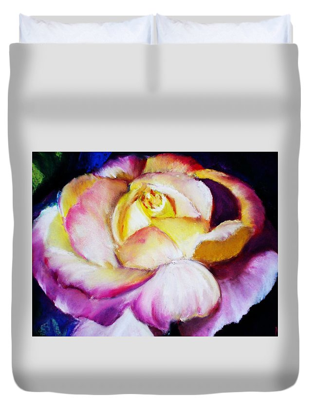 Rose Duvet Cover featuring the print Rose by Melinda Etzold