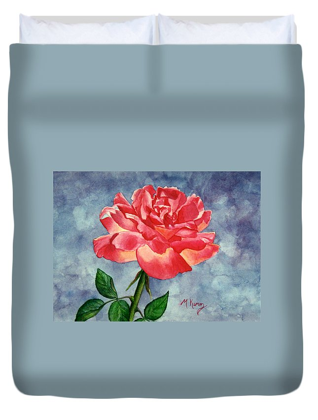Rose Duvet Cover featuring the painting Rose by Melissa Joyfully