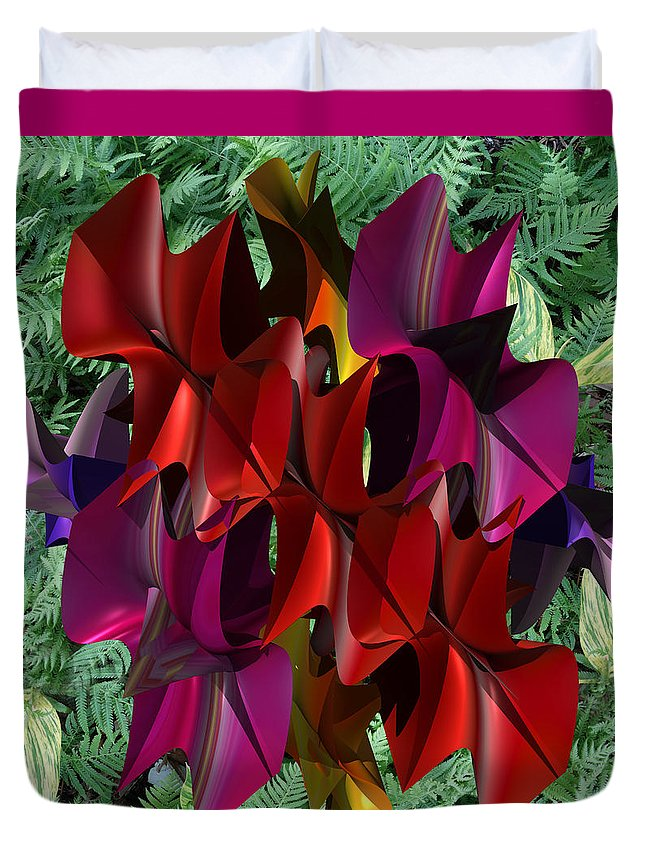 Rose Orchid Duvet Cover featuring the painting Rose Orchid by Mark W Ballard
