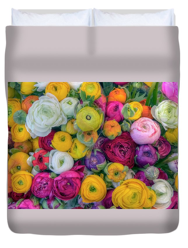 Roses Duvet Cover featuring the photograph Rose Petals by Nadia Sanowar