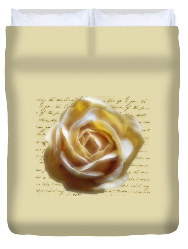 Roses Duvet Cover featuring the photograph Rose Poem by Kristie Bonnewell