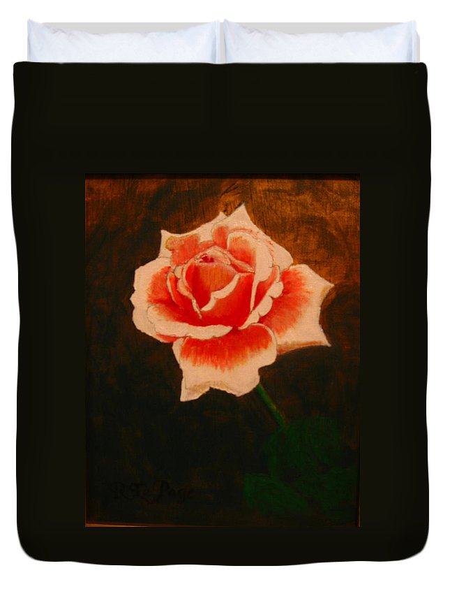 Rose Duvet Cover featuring the painting Rose by Richard Le Page