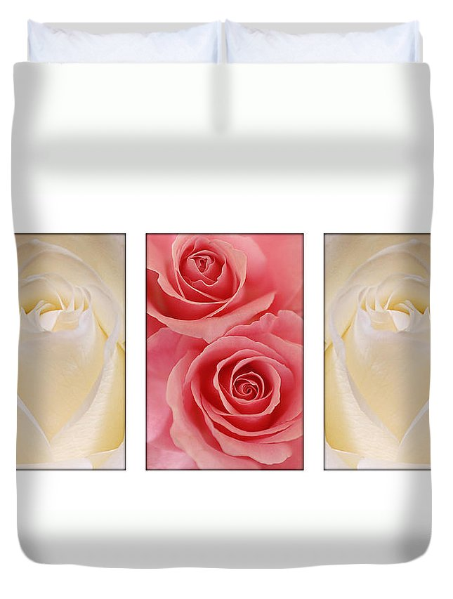 Rose Duvet Cover featuring the photograph Rose Series by Jill Reger