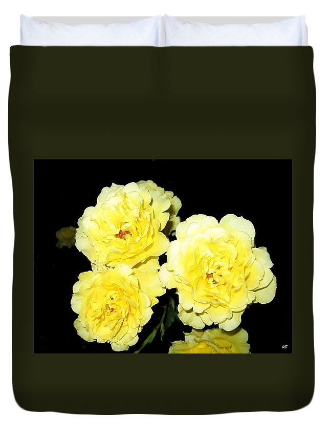 Roses Duvet Cover featuring the photograph Roses 11 by Will Borden