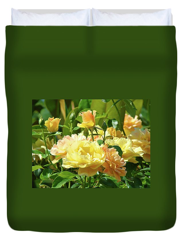 Rose Duvet Cover featuring the photograph Roses Art Prints Rose Garden Flowers Giclee Prints Baslee Troutman by Baslee Troutman