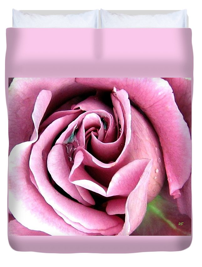 Romantic Duvet Cover featuring the photograph Roses Roses by Will Borden