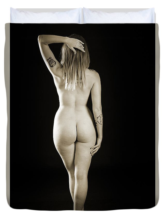 Rosie Duvet Cover featuring the photograph Rosie Nude Fine Art Print In Sensual Sexy 4620.01 by Kendree Miller