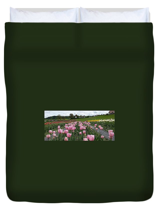 Tica Duvet Cover featuring the photograph Rosy Field by Felicia Tica