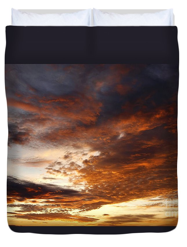 Rosy Sky Duvet Cover featuring the photograph Rosy Sky by Michal Boubin