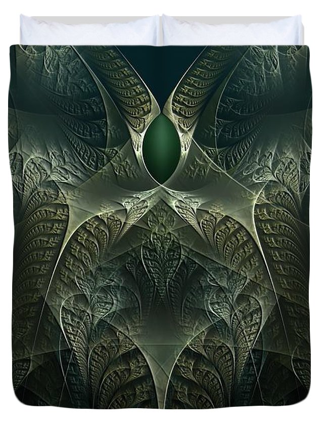 Manipulation Duvet Cover featuring the digital art rotl_02 Lord Of the Swamp by Drasko Regul