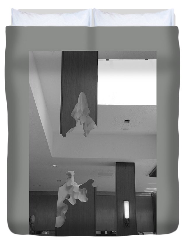 Abstract Duvet Cover featuring the photograph Rotton Stanchon by Rob Hans