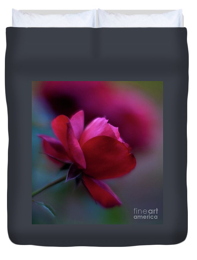 Red Duvet Cover featuring the photograph Rouge by Mike Reid