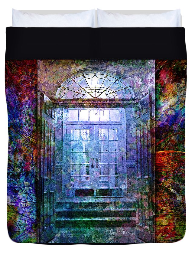 Arch Duvet Cover featuring the digital art Rounded Doors by Barbara Berney
