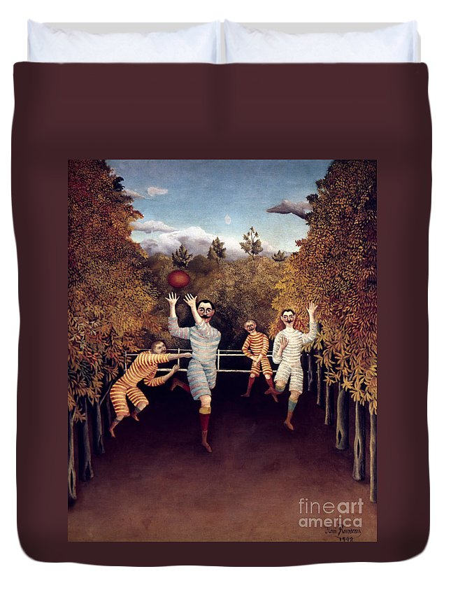 1908 Duvet Cover featuring the photograph Rousseau: Football, 1908 by Granger