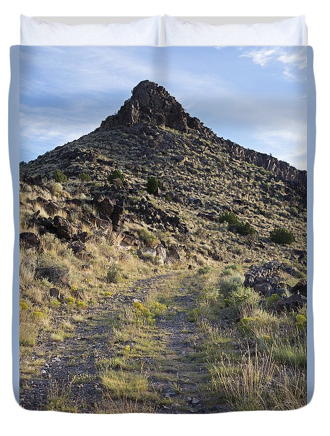 Route 66 Duvet Cover featuring the photograph Route 66 On The La Bajada Grade by Rick Pisio