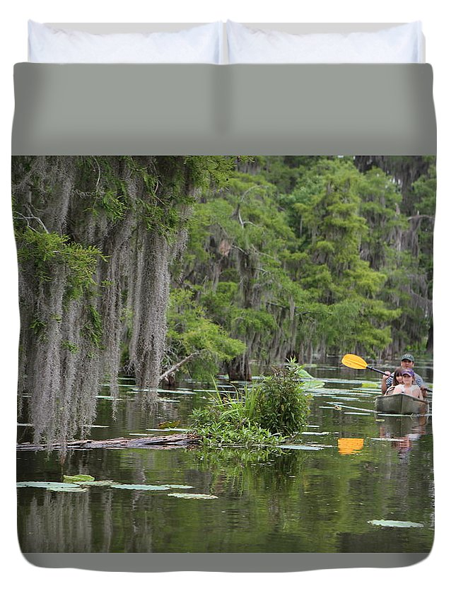Boat Duvet Cover featuring the photograph Rowing by Matthew Felder
