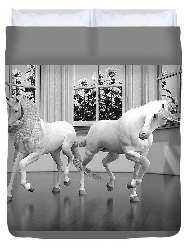 3d Duvet Cover featuring the digital art Royal Arms by Betsy Knapp