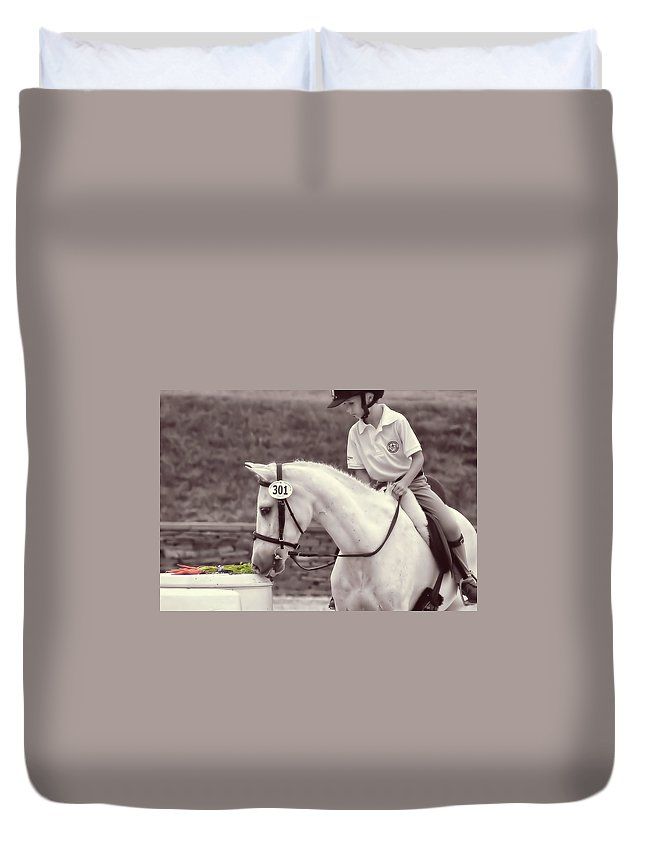 Horse Duvet Cover featuring the photograph Royal Ascot by JAMART Photography