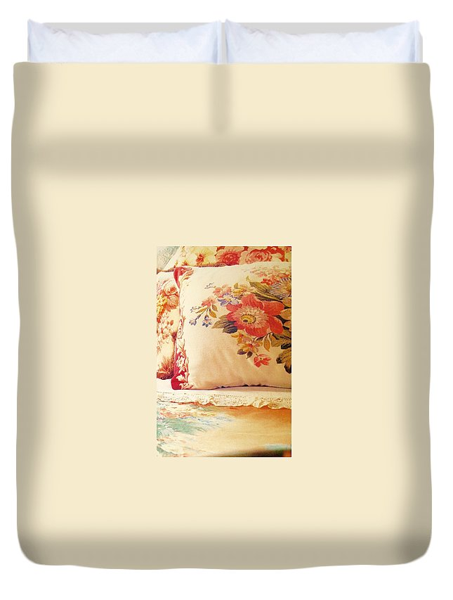 Duvet Cover featuring the photograph Royal English Chintz by Jacqueline Manos