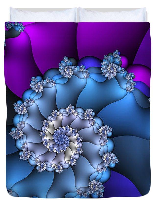 Fractal Duvet Cover featuring the digital art Royal Secret by Jutta Maria Pusl