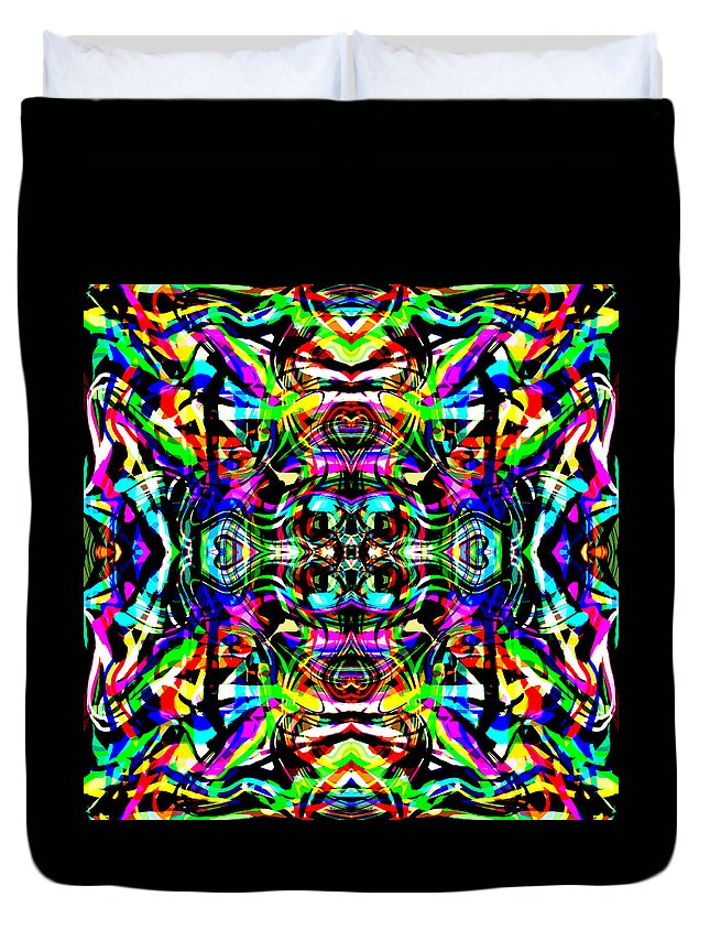 Abstract Duvet Cover featuring the digital art Ruba by Blind Ape Art