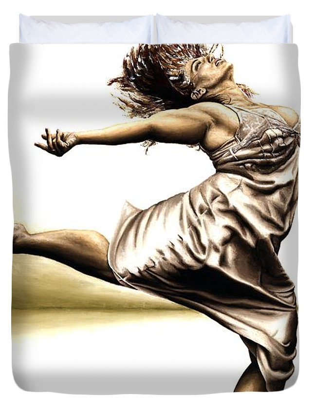 Rubins Duvet Cover featuring the painting Rubinesque Dancer by Richard Young