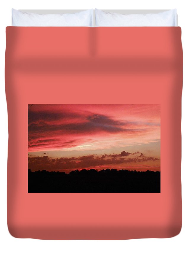Nature Duvet Cover featuring the photograph Ruby Sunset by Peggy King