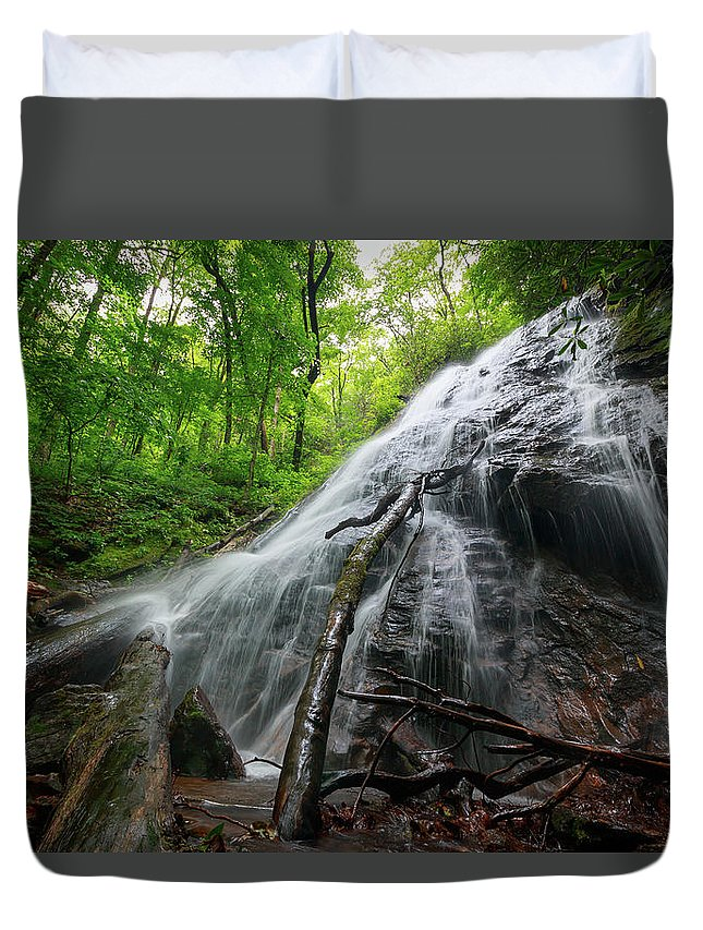 Rufus Morgan Falls Duvet Cover featuring the photograph Rufus Morgan Falls by Chris Berrier