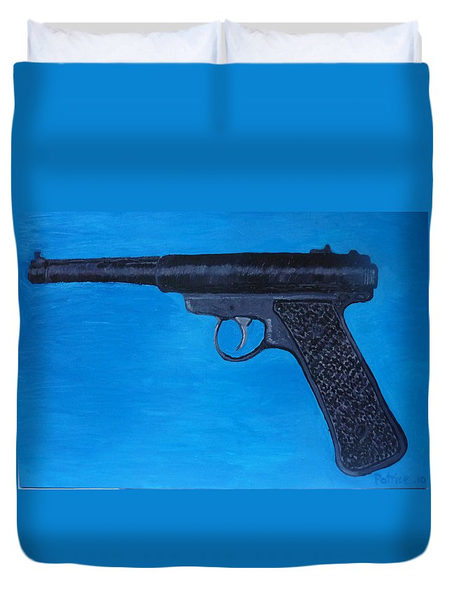Duvet Cover featuring the painting Ruger by Patrice Tullai