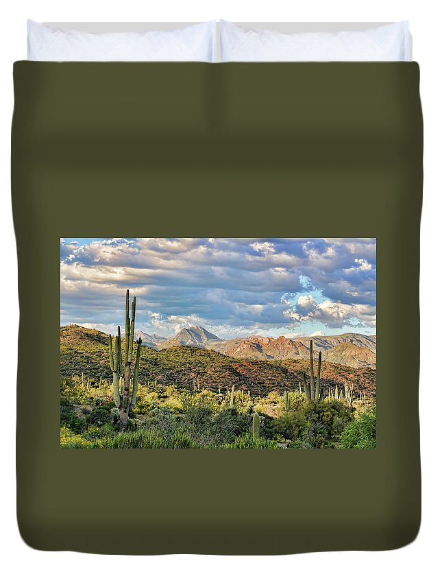 Arizona Duvet Cover featuring the photograph Rugged Beauty by Ryan Seek