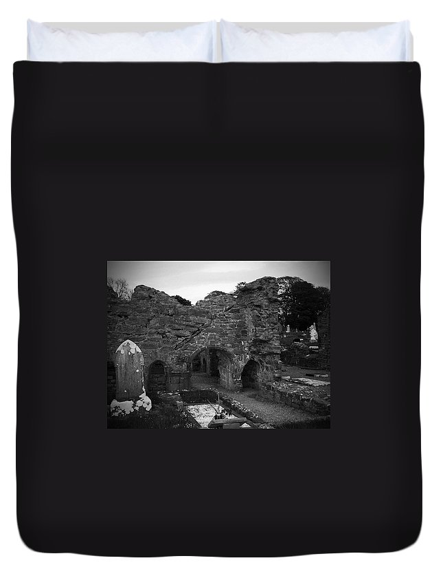 Irish Duvet Cover featuring the photograph Ruins At Donegal Abbey Donegal Ireland by Teresa Mucha