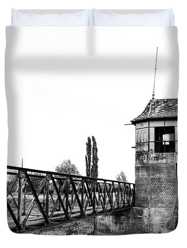 Architecture Duvet Cover featuring the photograph Ruins by Costantinescu Andrei