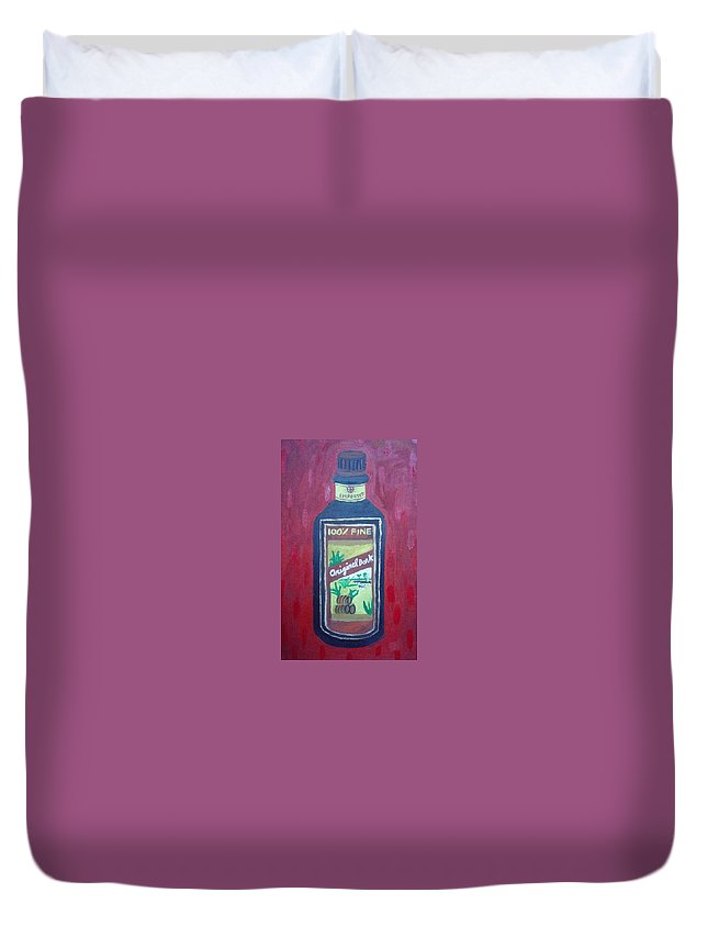 Oil On Canvas Duvet Cover featuring the painting Rum by Patrice Tullai