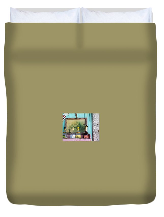 Charity Duvet Cover featuring the photograph Rum Shack Bananaquit by Mary-Lee Sanders