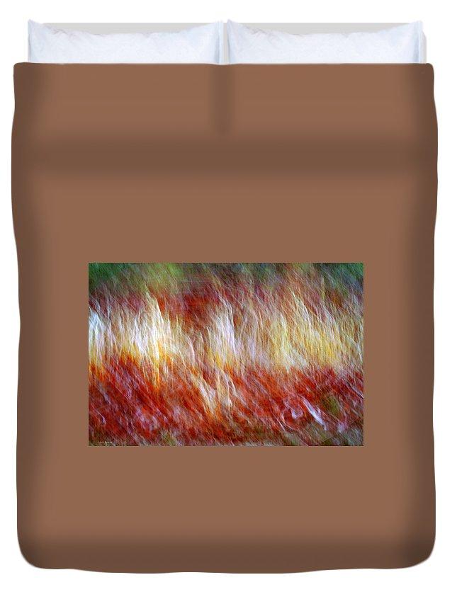 Abstract Art Duvet Cover featuring the digital art Run Like Hell by Linda Sannuti