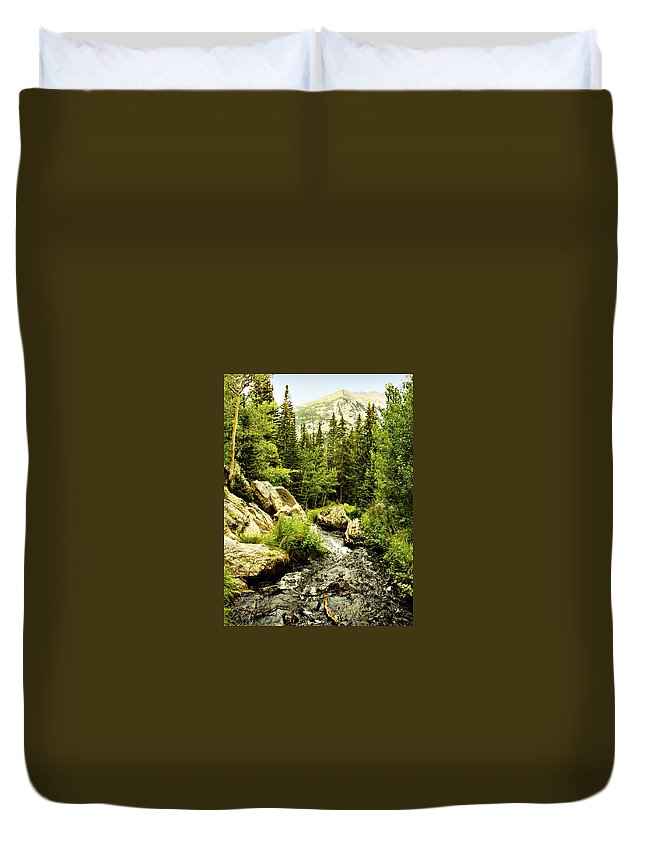 Colorado Duvet Cover featuring the photograph Running River by Marilyn Hunt