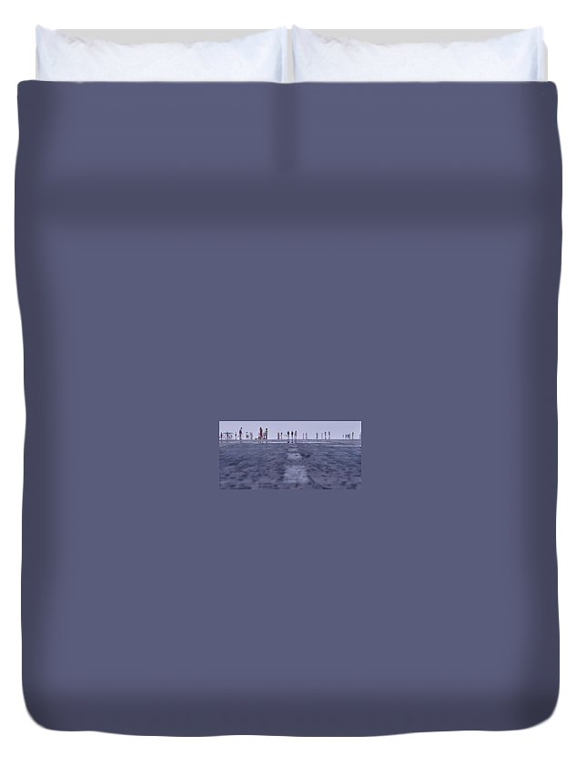 Runway Duvet Cover featuring the photograph Runway by Naoki Takyo