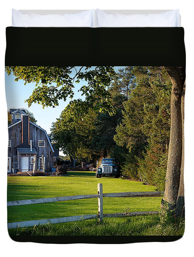 Long Island Duvet Cover featuring the photograph Rural by Alex Kotlik
