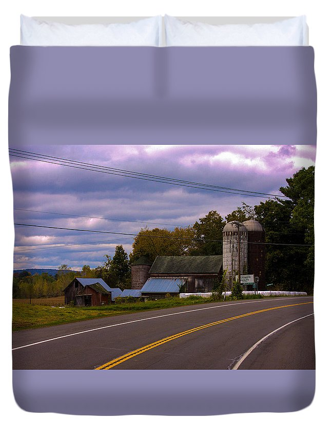 Rural Duvet Cover featuring the photograph Rural Farm by Gotcha Pics Photography