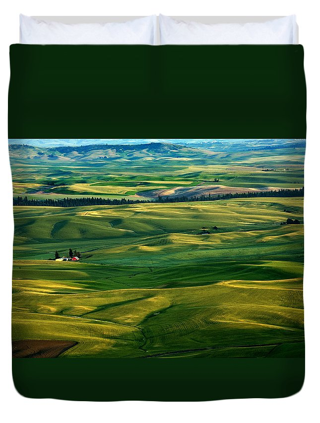 Palouse Hills Duvet Cover featuring the photograph Rural Tapestry by Mike Dawson