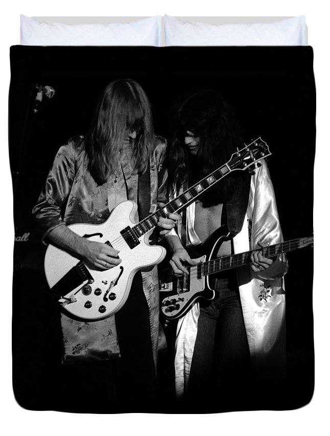 Classic Rock Duvet Cover featuring the photograph Rush 77 #52 by Ben Upham