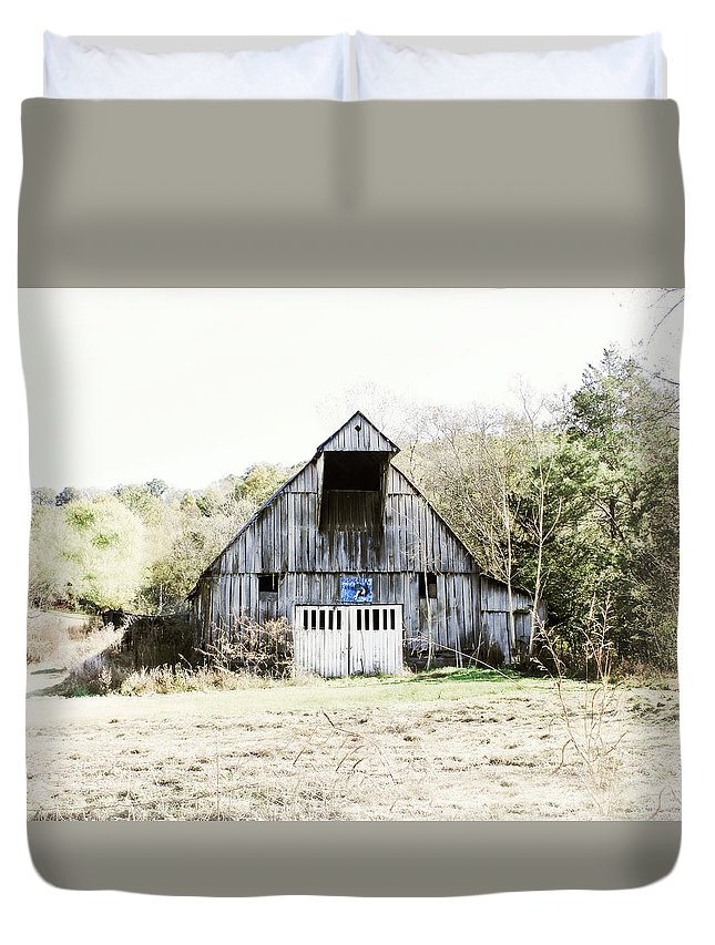 #barn Duvet Cover featuring the photograph Rush Creek Farm by Julie Hamilton