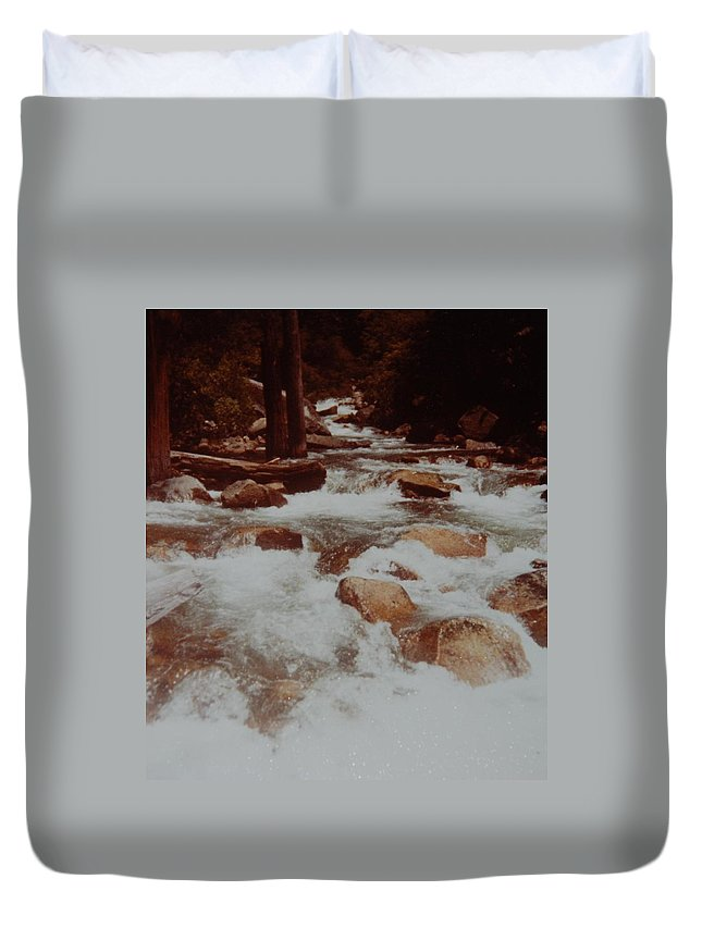 Water Duvet Cover featuring the photograph Rushing Water by Rob Hans