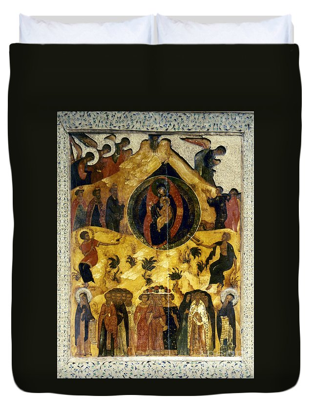 16th Century Duvet Cover featuring the photograph Russian Icon by Granger