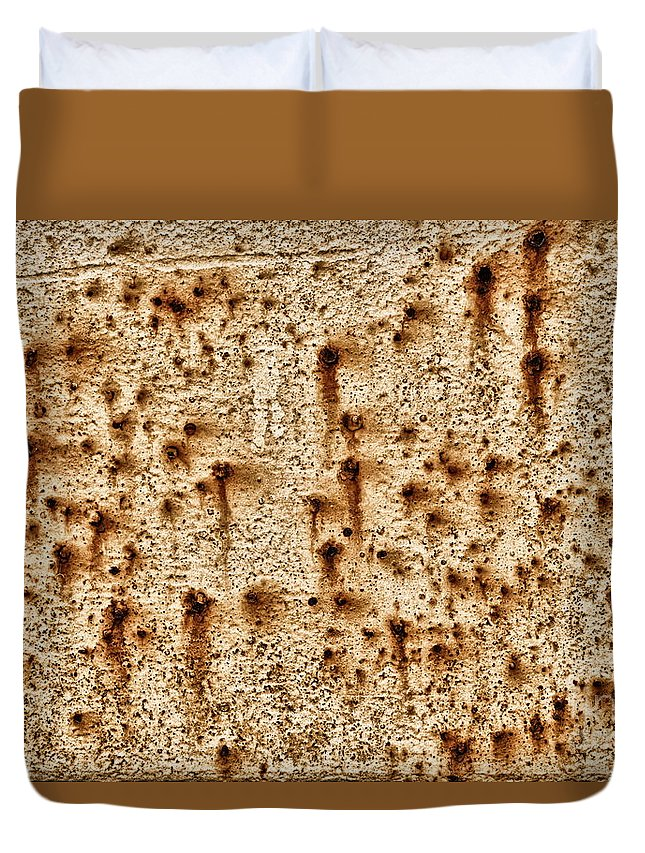 Rust Rusted Rusty Abstract Duvet Cover featuring the photograph Rust 2820 by Ken DePue