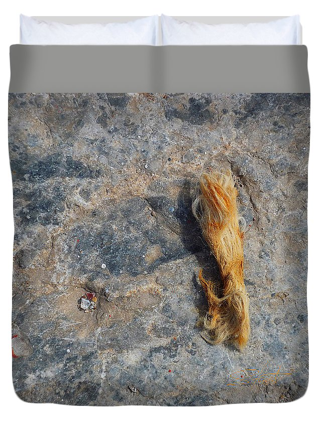 Fishing Net Duvet Cover featuring the photograph Rust In The Dust by Charles Stuart